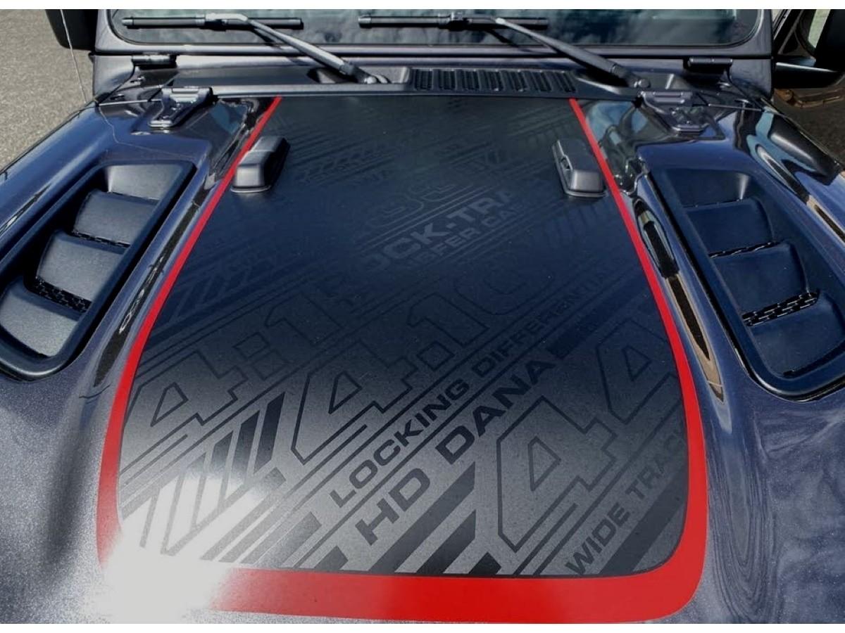 Genuine Mopar Jeep Decal Hood Recon Black Red 68510809aa Jeepsareus